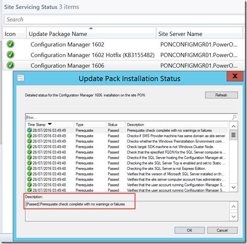 1606 Upgrade - Status