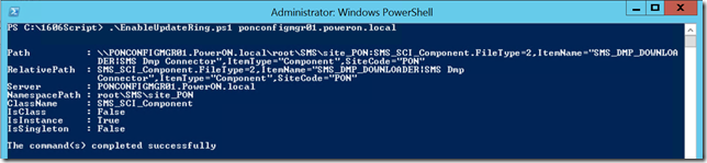 1606 Upgrade Powershell Fast Ring